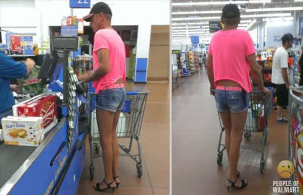 High Heels-Strangest People Of Walmart