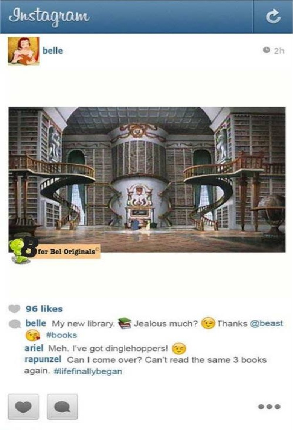 Showing off the new place-If Disney Princesses Had Instagram