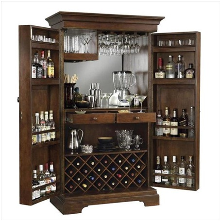 Alcohol & Glass Storage-Must Have Man Cave Accessories