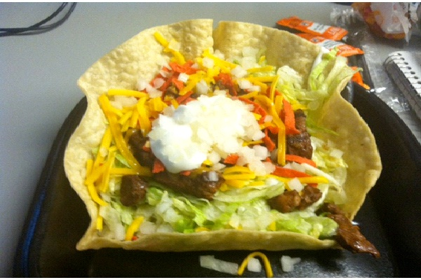 Taco Bell Salad Contains A Whopping 52 Grams of Fat-Insane Fast Food Facts