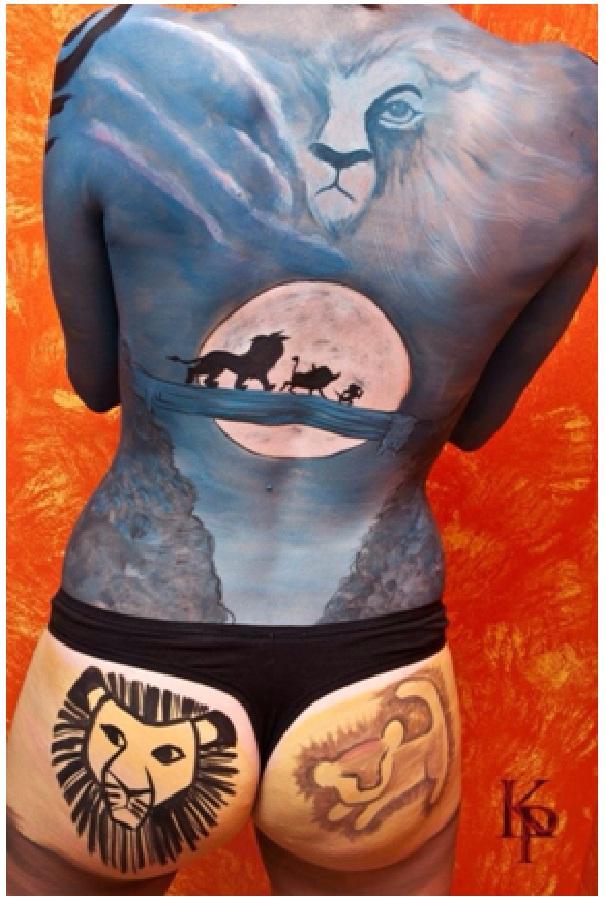 Lion King Scene-Disney Full Body Painting