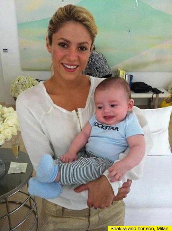 Shakira-Celebrity Babies Born In 2013