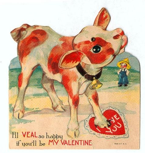 Here's a cow-Creepy Valentine's Day Cards