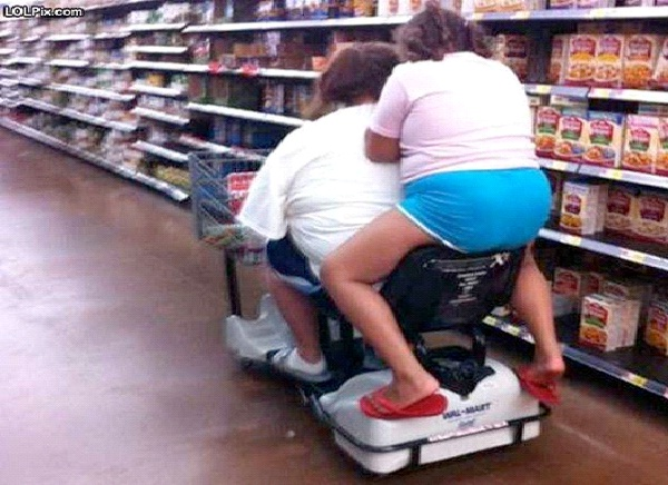 Food Shopping-Funniest Pics Of Lazy People