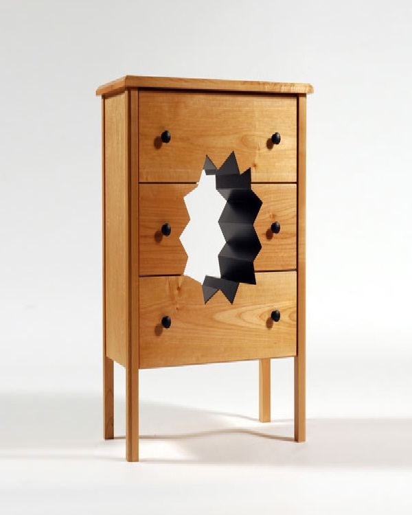 Hole cabinet-Weird Bedroom Furniture