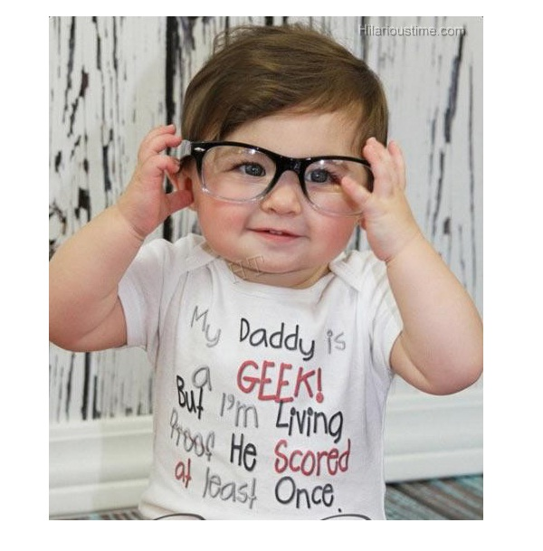 Living Proof-Funny Baby T-shirt Texts And Images