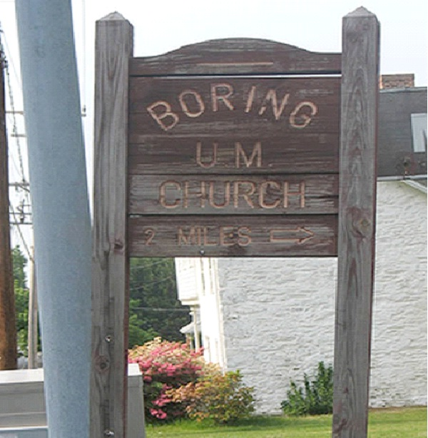 Boring Um Church-Bizarre Church Names