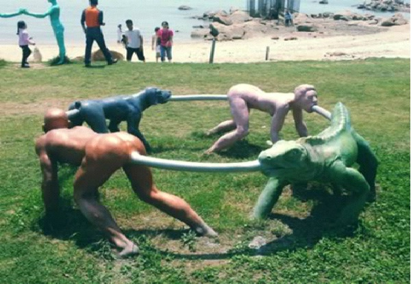 Human Animal Centipede-Most Inappropriate Playgrounds
