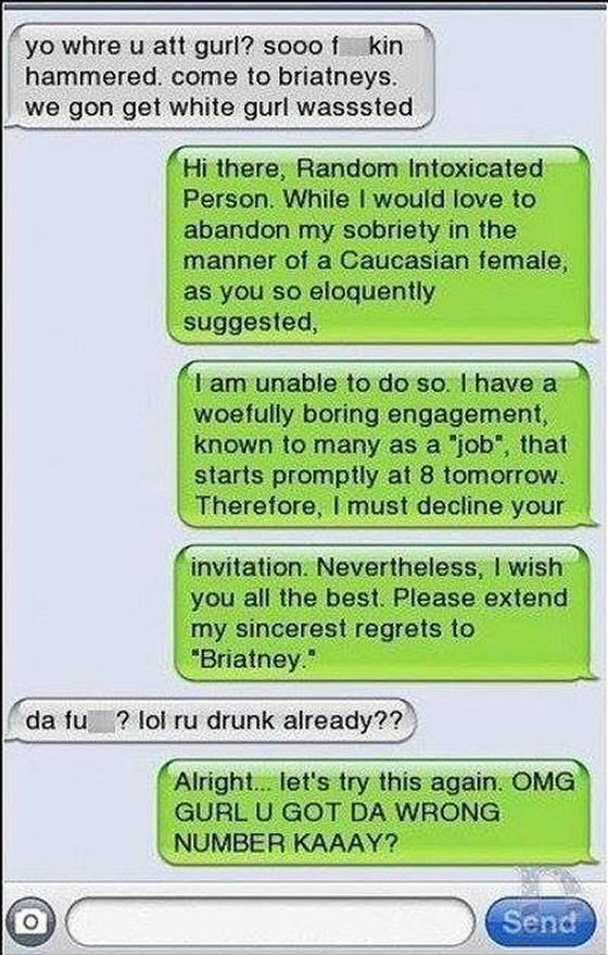 They just do not get it-Hilarious Wrong Number Replies