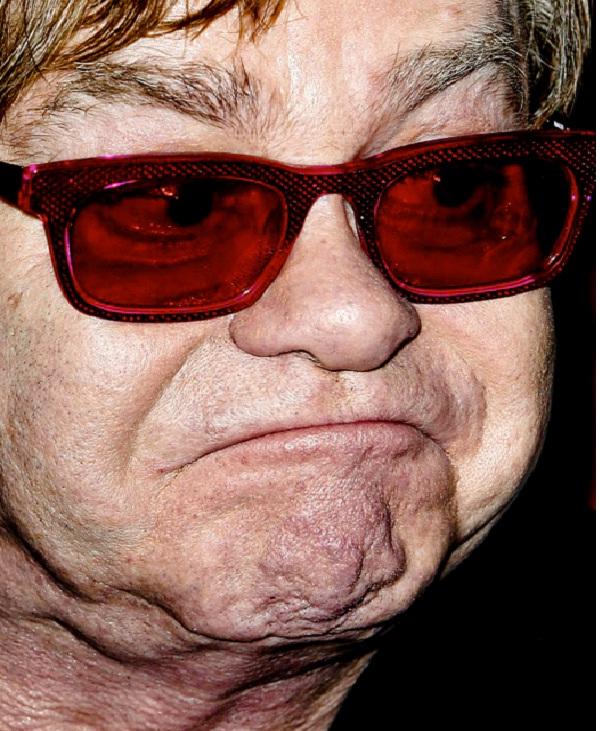 Elton John-Weird Celebrity Closeups