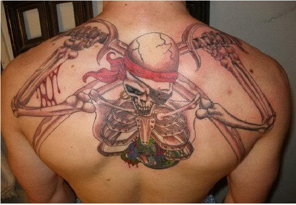 Back tattoo-Pirate Tattoos
