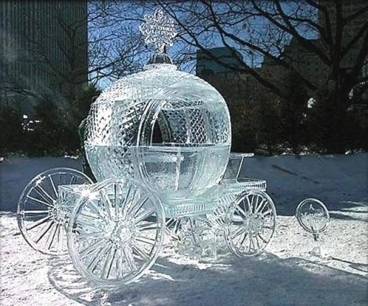 Cinderella's Carriage-Most Amazing Snow Sculptures