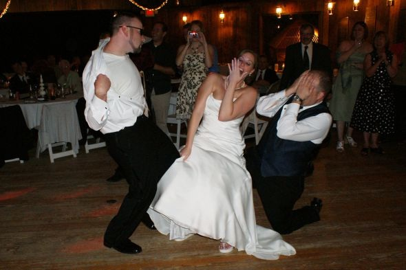 That dancing is horrible-Things You Think About At A Wedding