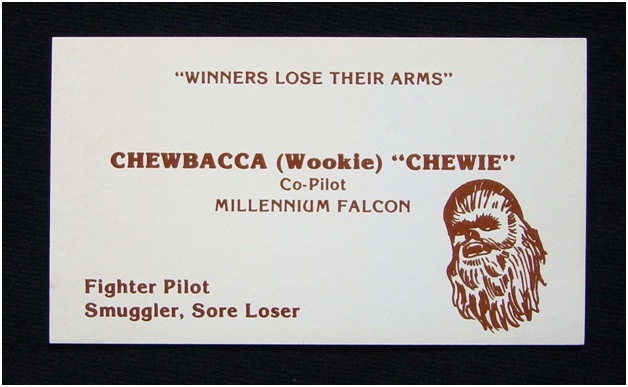 Chewbacca Business Card-Funniest Business Cards