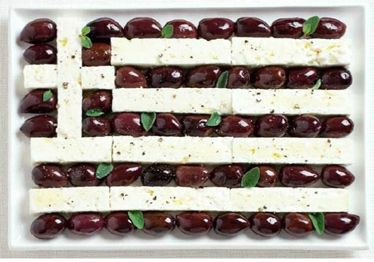 Greece-Most Creative Flags Made Out Of Food