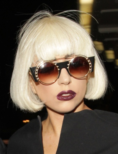 Cropped and almost white-Lady Gaga Hairstyles