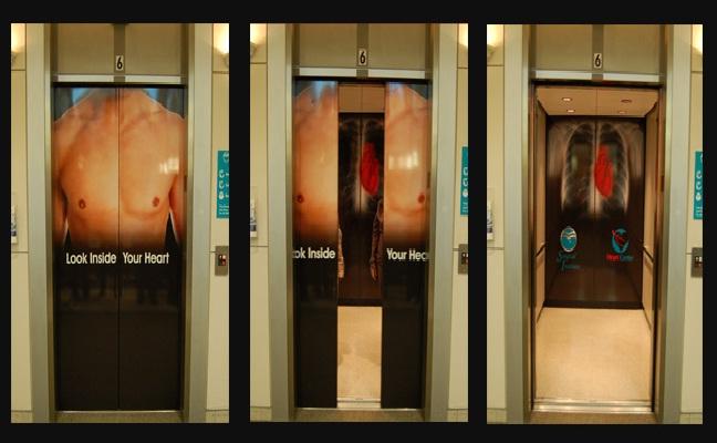 Heart lift-Creative Elevator Ads