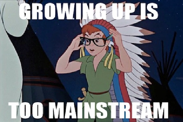 Peter Pan-Disney Characters As Hipsters