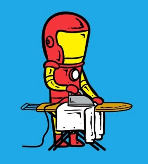 Ironing man-If Superheroes Had Part Time Jobs