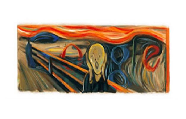 Edvard Munch's Scream-Amazing Google Doodles