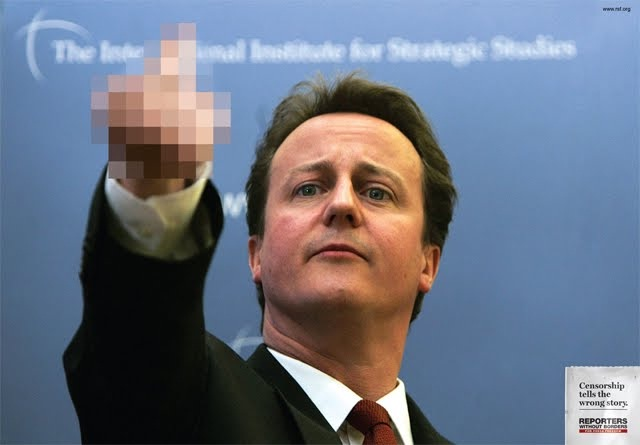 Is he giving the finger?-How Censorship Makes Things Creepy