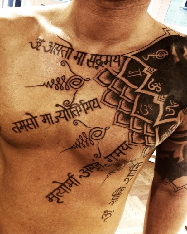 Mantra tattoo-15 Cool Tattoos For Men That Make You Say WOW!