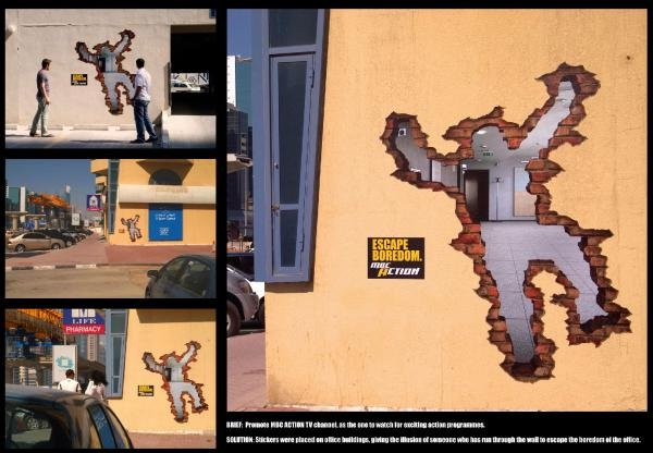 Hole in the wall-Creative Ads On Buildings
