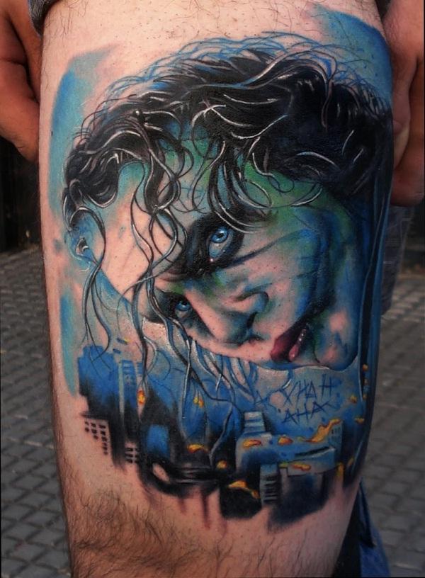 The Joker-Batman 3D Tattoos