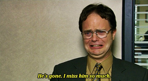 We can miss people-Dwight K Schrute Is A Life Coach
