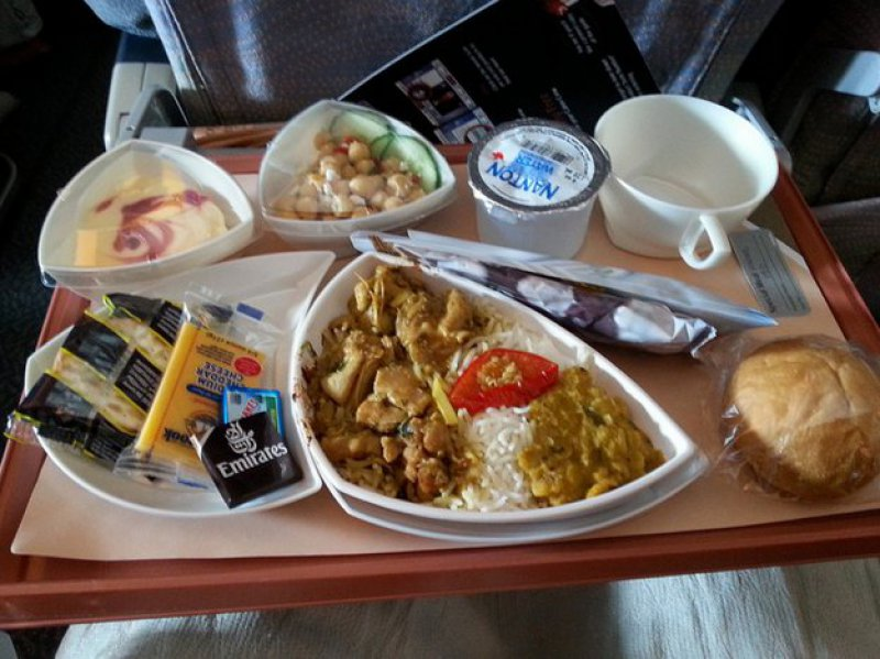 Emirates Airlines-15 Airlines And The Food Served In The Economy Vs. Business Class