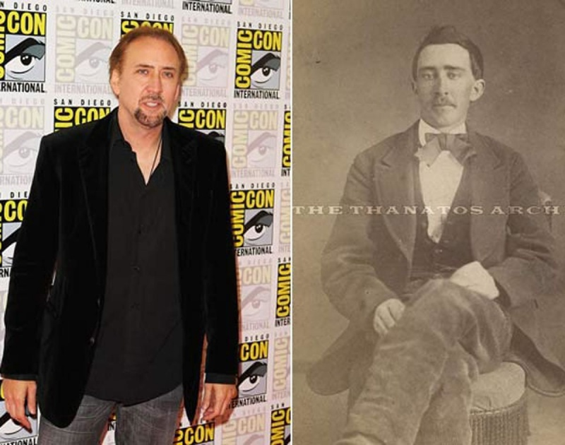 Nicholas Cage and Civil War Era Man-15 Celebrities Who Look Like People From Past