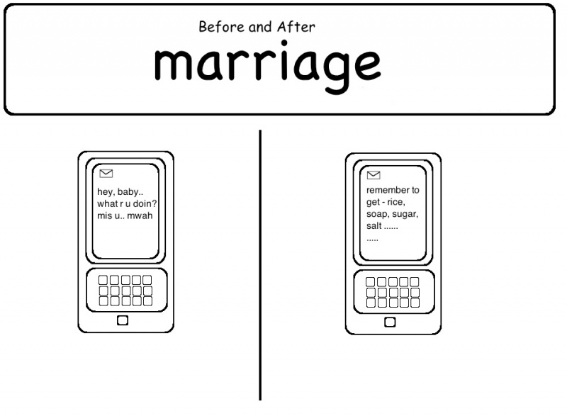 True Story-15 Images That Show Striking Difference Between Single And Married Life