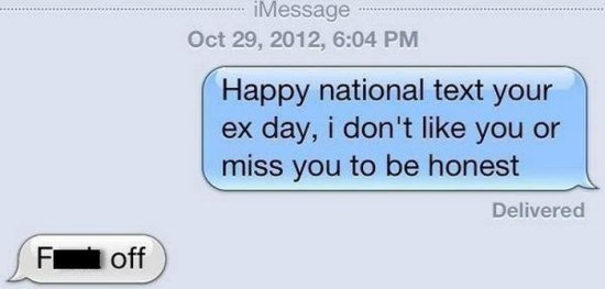 National Text Your Ex Day-15 Hilarious Texts From Exes That Will Make You Lol