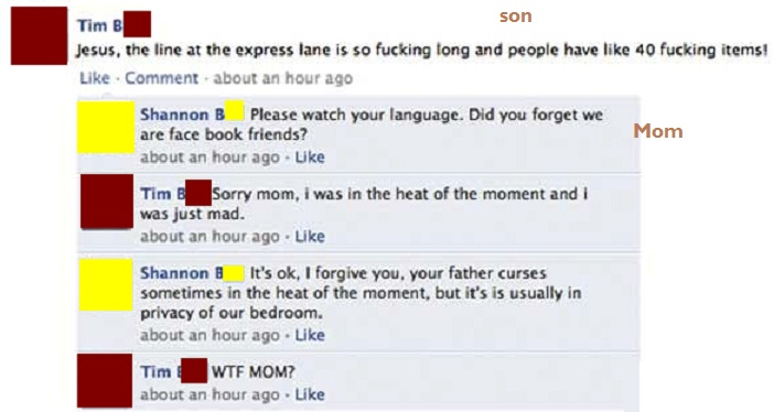 This Quiet, Innocent and Hilarious Comment From a Mom-15 Images That Show You Shouldn't Add Your Mom On Facebook