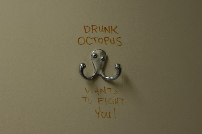 Drunk Octopus Wants to Fight You-15 Hilarious Toilet Graffiti Images Ever
