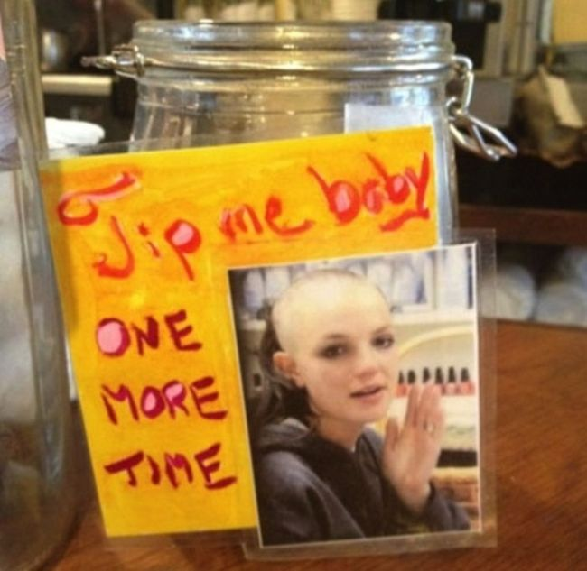 Tip Me Baby One More Time-15 Funniest Tip Jars You'll Ever See
