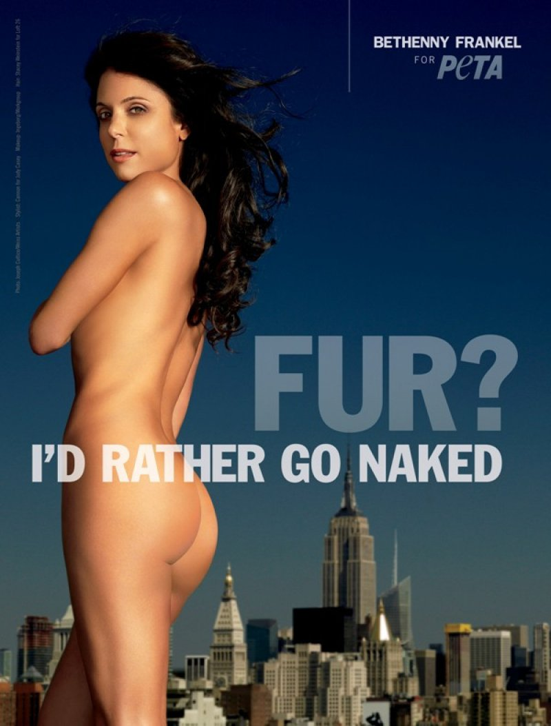 "Bethenny Frankel - ""I'd Rather Go naked""-15 Celebrities Who Have Stripped For Charity"