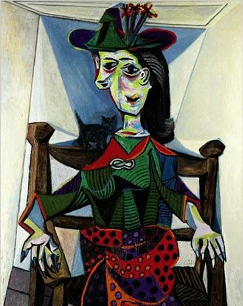 Dora Maar with Cat, 1941 by Pablo Picasso (0.7 Million)-15 Ridiculous Paintings Sold For Millions Of Dollars