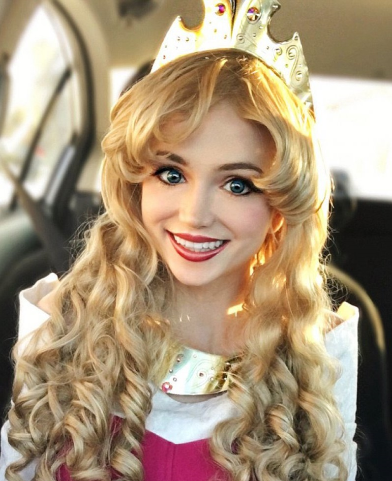 In Princess Aurora 'Sleeping Beauty' Costume-Girl Who Spent ,000 To Look Like Disney Princesses