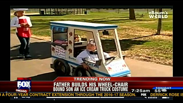 Dad Builds an Ice Cream Truck Costume for Disabled Son-15 Awesome Dads Who Are Nailing The Father Thing