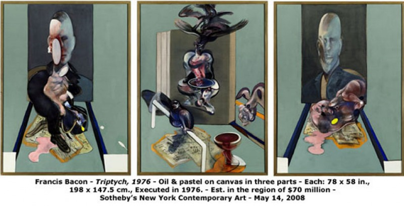 Triptych, 1976 ( Million)-15 Ridiculous Paintings Sold For Millions Of Dollars