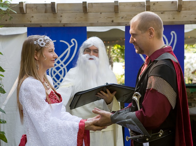 When Gandalf Becomes a Wedding Officiant-15 Most Bizarre Themed Weddings Ever