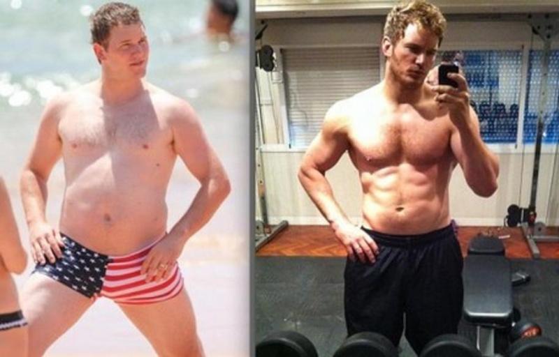 Chris Pratt-Shocking Celeb Movie Transformations