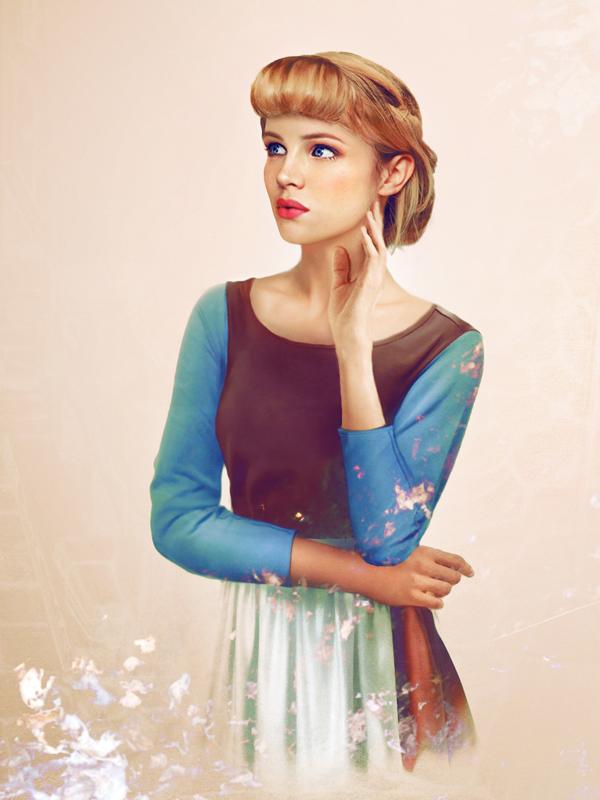 Princess Cinderella-15 Real Life Illustrations Of Disney Characters