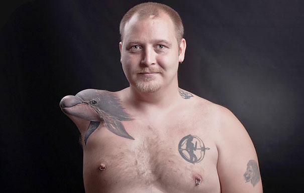 Most Creative Tattoos Ever -15 Amputees With Awesome Sense Of Humor