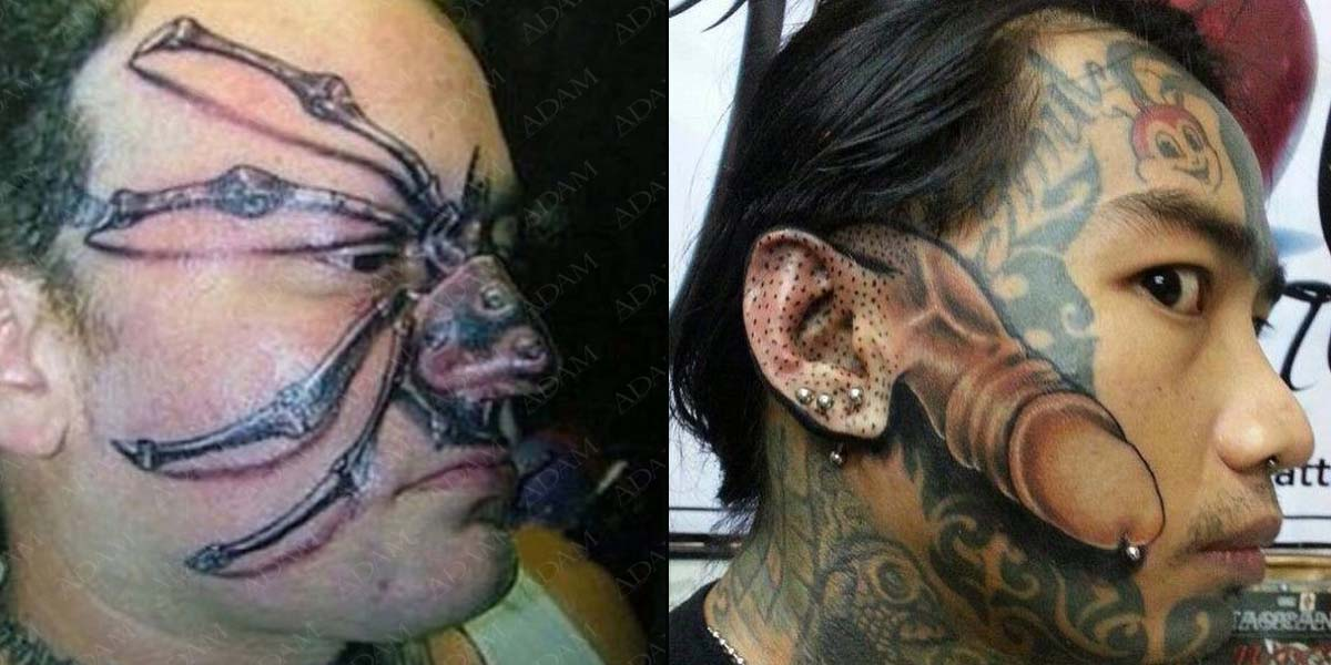 15 People With Terrible Face Tattoos