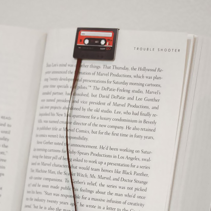 Cassette Tape Bookmark-15 Bookmarks You Must Have If You Are A Bookworm