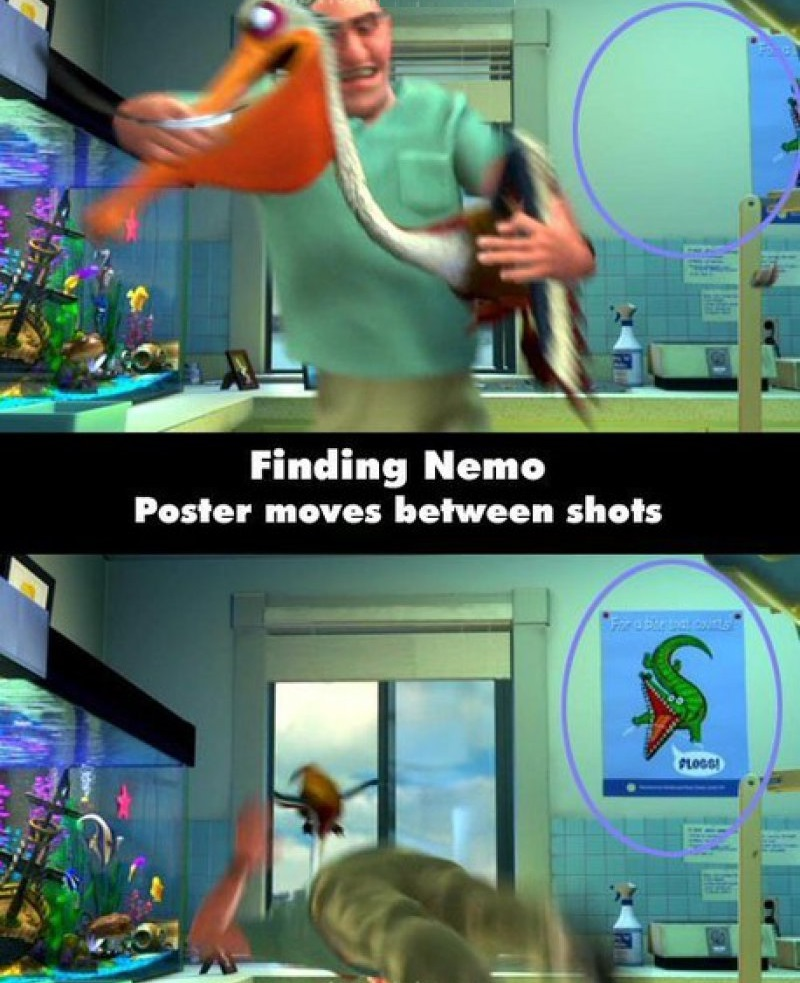 Finding Nemo-15 Disney Movie Mistakes You Probably Never Noticed