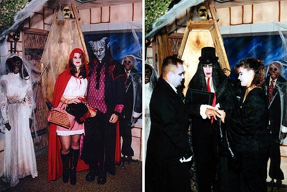 These Metalhead Couples-15 Most Bizarre Themed Weddings Ever