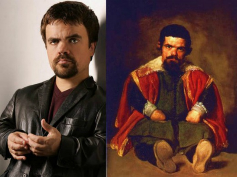 Peter Dinklage and Sebastian De Morra-15 Celebrities Who Look Like People From Past